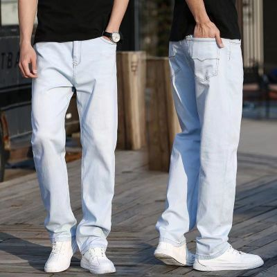Relaxed fit straight leg jeans vintage style for men