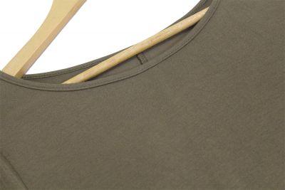 Summer dress for women with diagonal side fringe