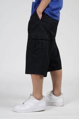 Baggy cotton shorts for men with side pockets
