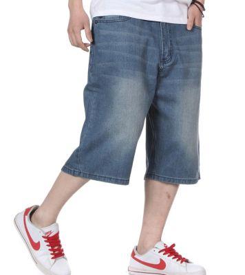 Washed out Baggy Denim Shorts for Men Jeans Bermuda