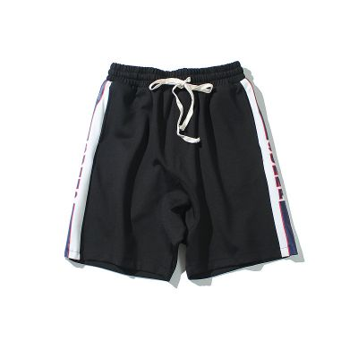 Sports retro boxing shorts with drawstring belt and side marking