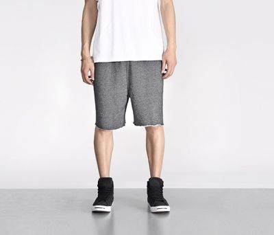 Men's cotton Shorts Speckled Grey with white cuff