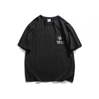 Short sleeve t shirt with maple leaf print for man