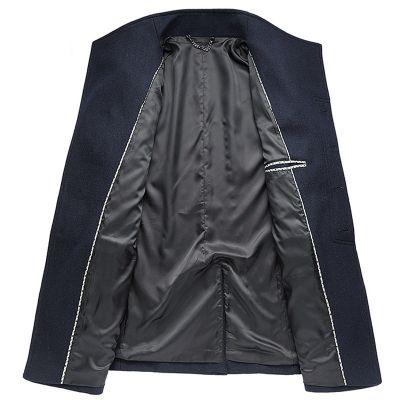 Smart winter wool coat for men