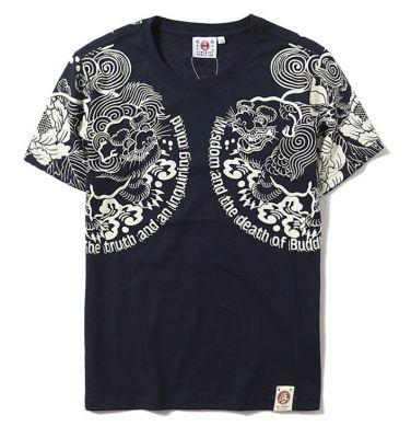 T Shirt Lotus Oriental Tattoo Japanese Streetwear