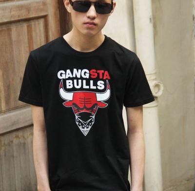 Gangsta Chicago Bulls T Shirt Bandana Hip Hop Streetwear
