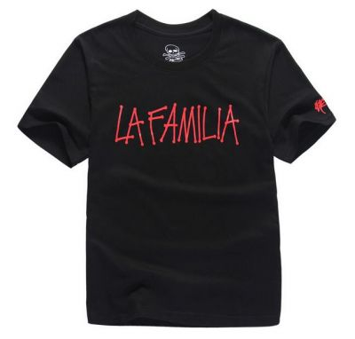 La Familia T shirt Handwriting Streetwear Hip Hop