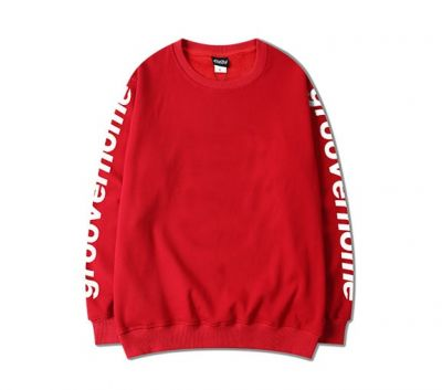Sleeve Printed Sweater for Men with Groover Home Writing on Sleeves