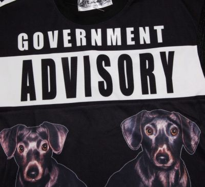 Government Advisory Dog Crop Top T shirt for Women