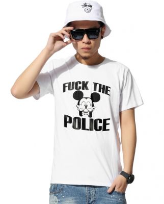 Fck the Police T shirt Mickey Mouse Swag for Men