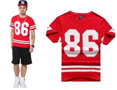 86 Stripes Baseball Swag T shirt for Men
