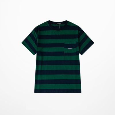 Oversized T-Shirt with broad horizontal stripes for men or women