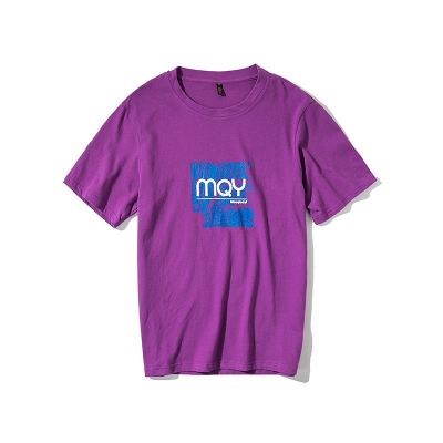 Men's streetwear T-shirt with Mqy distressed effect print