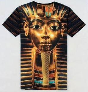 Tutenkhamon Pharaoh Head Close Up T shirt Gold Swag 3D