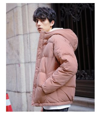 Thick casual coat with hood unisex