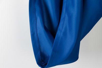 Tricolor Color Conflict Fashion Dress for Women Blue Pink White