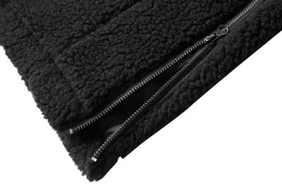 Hooded Thick Fleece Jacket in Plush Fabric for Men