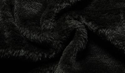Fur lined winter wool hoodie for men with wide stripes