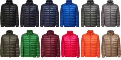 Men's High collar Quilted Winter Down Jacket