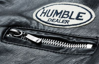 PU Leather racing jacket for men with embroidered badges