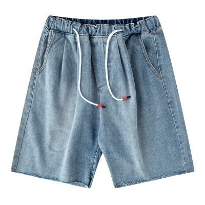 Vintage light blue denim shorts for men