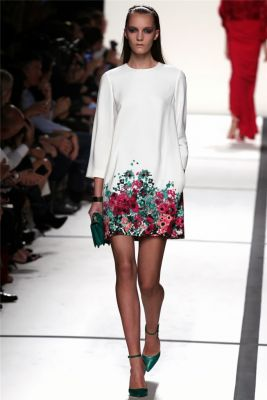 Dress for woman with flower pattern on the bottom fashion 2014