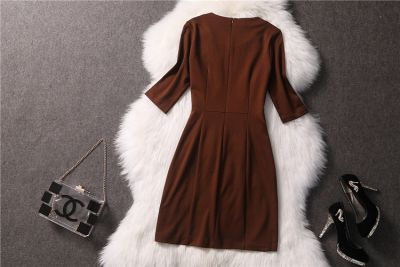 Fashion women's dress with front zipper 2014 spring summer
