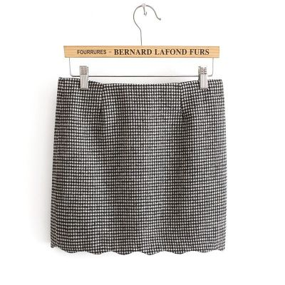 Short skirt Houndstooth pattern fabric fashion for women