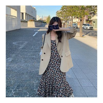 Women's double breastedsuit blazer