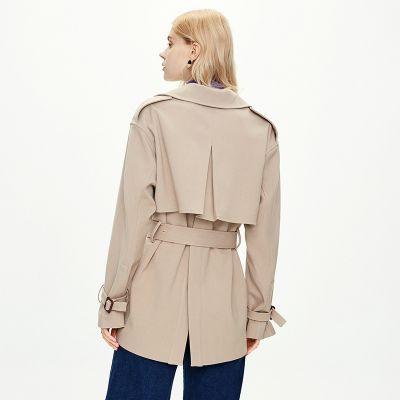 Women's slim trench coat with belt