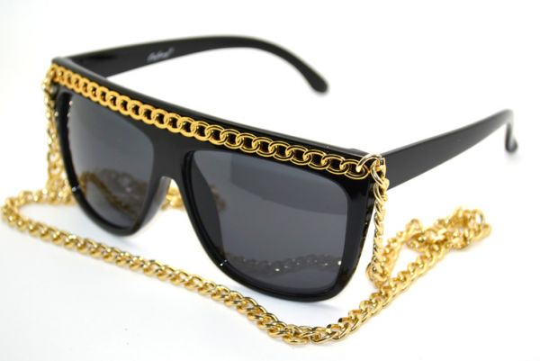 Swagg Gold Chain Sunglasses Bling Bling Streetwear Fashion