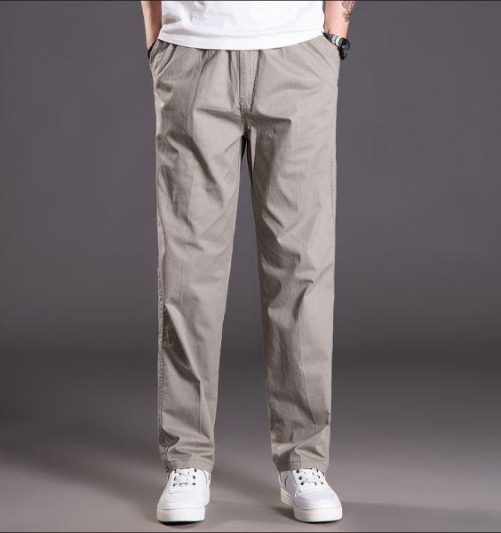 Baggy cotton cargo pants for men
