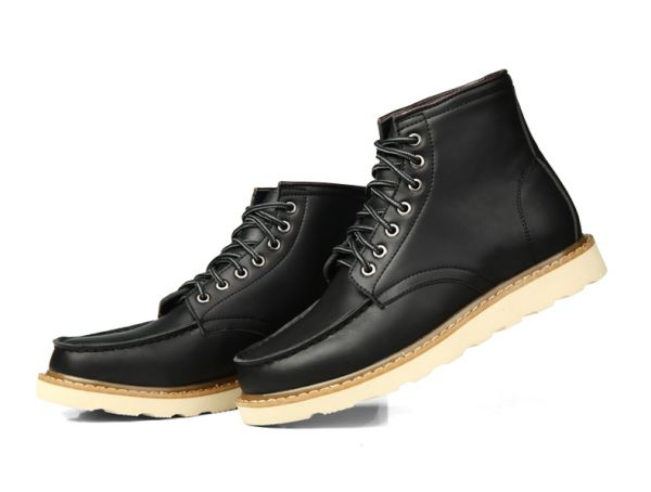 Vintage Boots for Men High Top Leather Shoes
