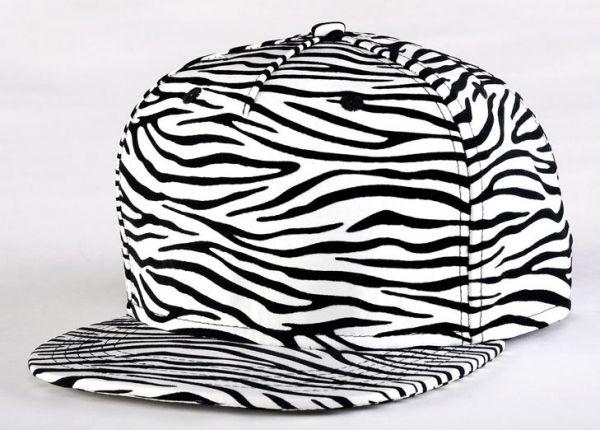 Zebra Stripe Print Baseball Snapback Cap Ajustable