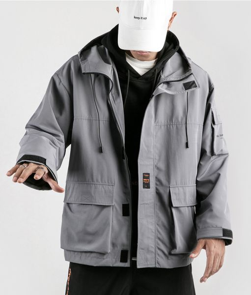 Hooded jacket for men long sleeves