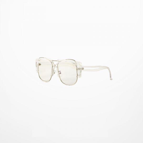 Decorative Glasses with transparent plastic frame thick