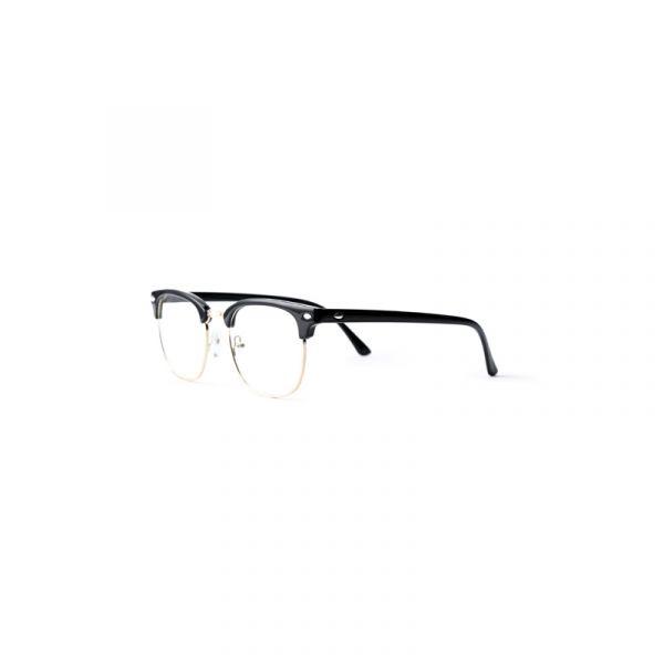 Clubmaster Style Glasses Black Frame for men or women