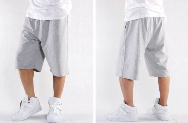 Summer Cotton Shorts for Men with Solid Color Side Stripe