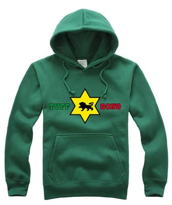 Bob Marley Hoody Sweatshirt with Red Gold Green Print across Front