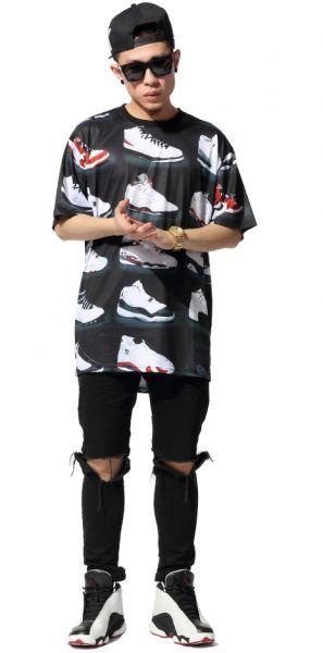 Air Jordan Sneakers T-shirt All Over Print Number 23