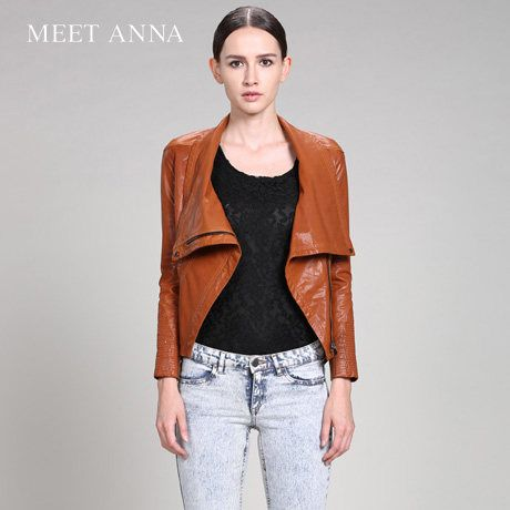 Real Leather Vest for Women with Wide Wrappable Lapel Collar